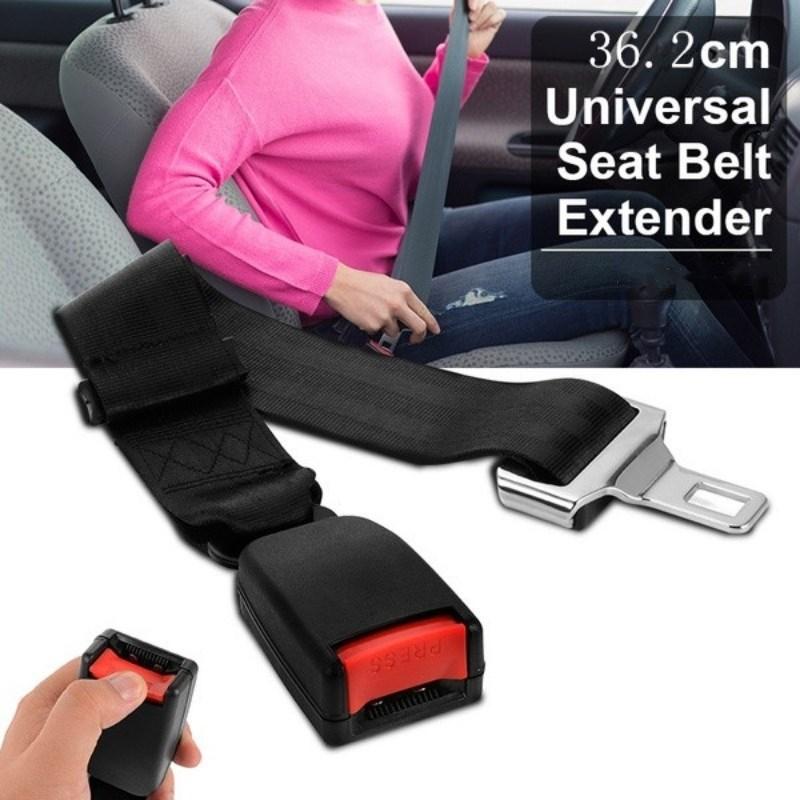 """14 """"ya 36cm 14"""" de coche Universal de asiento de Auto cinturón extensor para cinturón de seguridad extensión hebilla cinturones de seguridad y almohadillado extensor"""