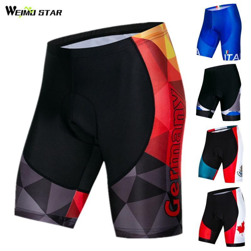 Weimostar-pantalones cortos para ciclismo Coolmax 4D, con almohadilla de Gel, a prueba...