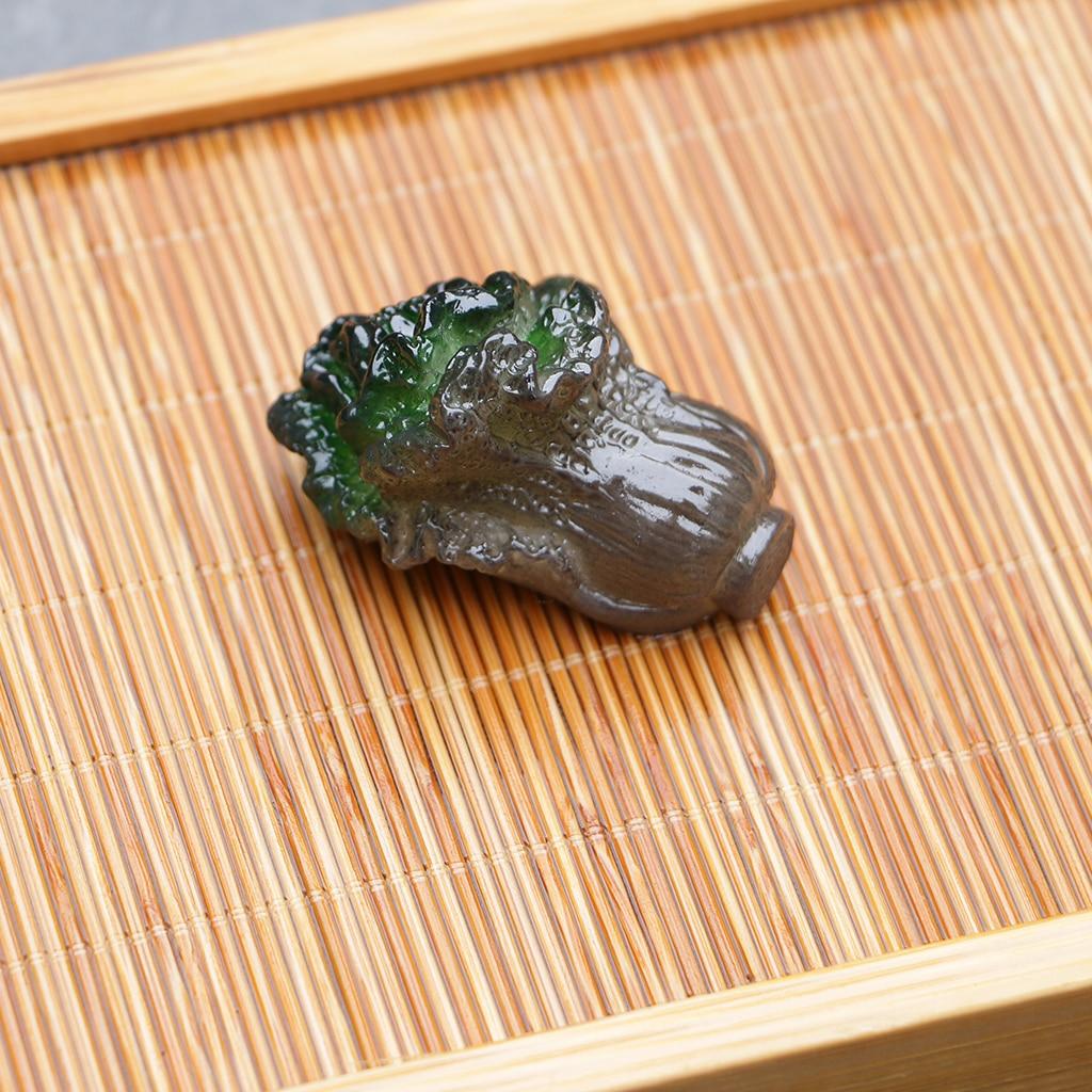 MagiDeal, decoloración de resina, té, repollo en forma de bandeja de té, accesorios para ceremonia del té