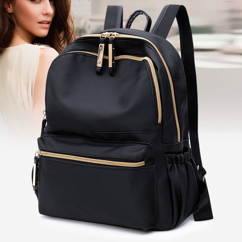 Женский рюкзак-Оксфорд, черный водонепроницаемый нейлоновый школьный рюкзак для девочек-подростков, модный дорожный Рюкзак-тоут, 2019