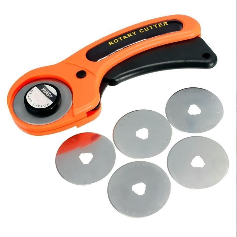 Кожевенное ремесло 45 мм роторный резак для кожаного режущего инструмента резак для ткани круговое лезвие DIY лоскутное шитье стеганое приспособление Olfa Cut New