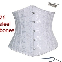 SEXY Gothic Underbust Corset and Waist cincher Bustiers Top Workout Shape Body Belt Plus size Lingerie XS-6XL