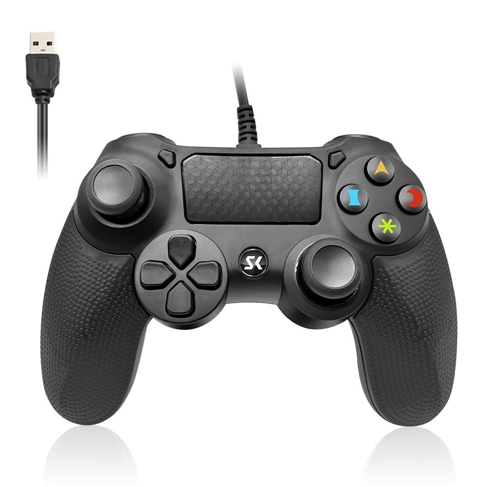 Wysokiej jakości przewodowy sterownik do gier 6 miesięcy gwarancji na PS4 joystick Joypad 3 kolory na ps3 gamesir gamepad pc czarny niebieski