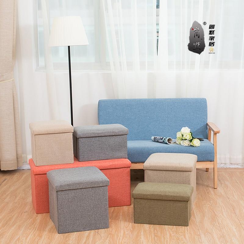 Hot Multi-funktion Faltbare Platz Retro Falten Lagerung Hocker Lagerung Boxen Organizer Kinder Buch Kleinigkeiten Hause Dekoration