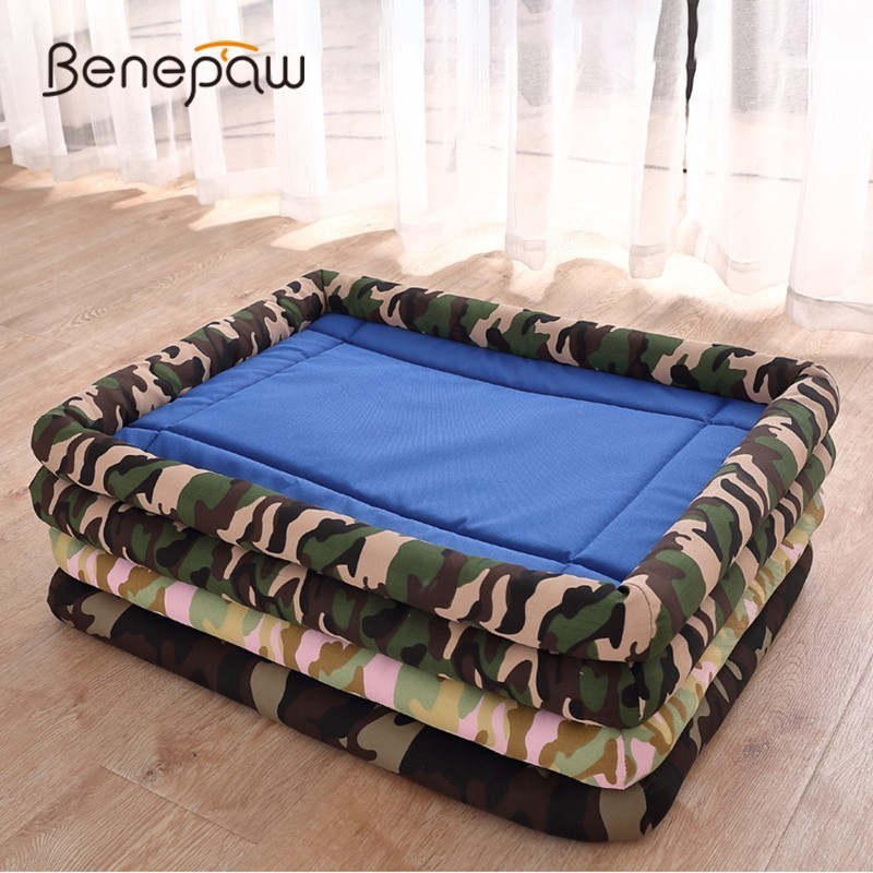 Benepaw impermeable perro mascota de Mat a prueba de polvo camuflaje pequeño mediano grande perro camas de mordedura-resistente al cachorro caja cojín
