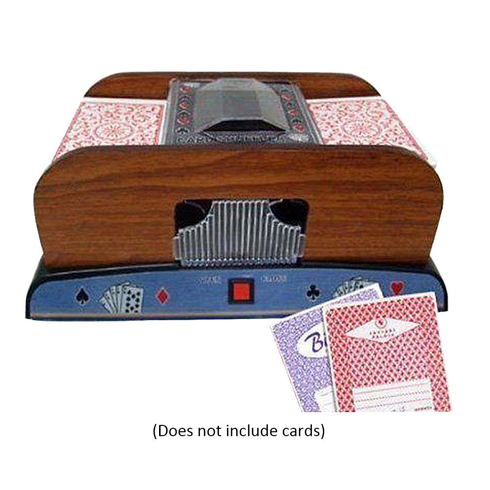 B cartas de póquer de madera automática eléctrica barredora de tarjetas de juego