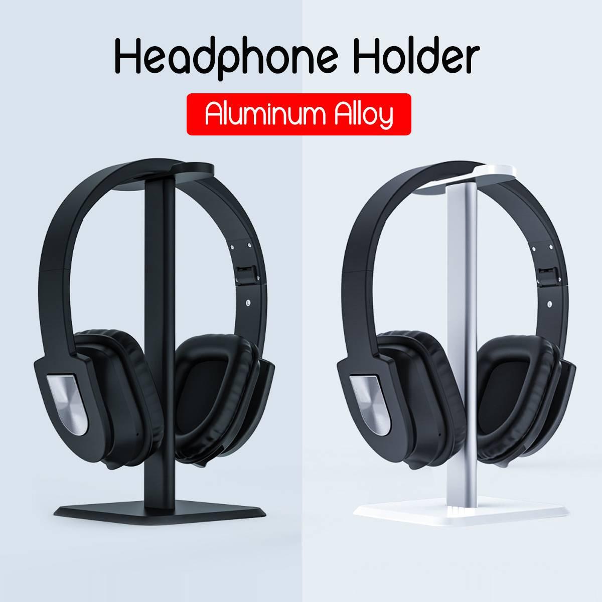 Soporte Universal de aluminio para auriculares, soporte para auriculares, colgador para auriculares, soporte de escritorio, soporte para estante, soporte para colgar