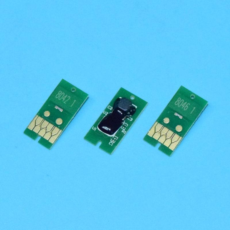 T8041-T08049 804 Compatible Chip For Epson Surecolor SC P6000 P7000 P8000 P9000 Series Inkjet Printers Refillable Ink Cartridges