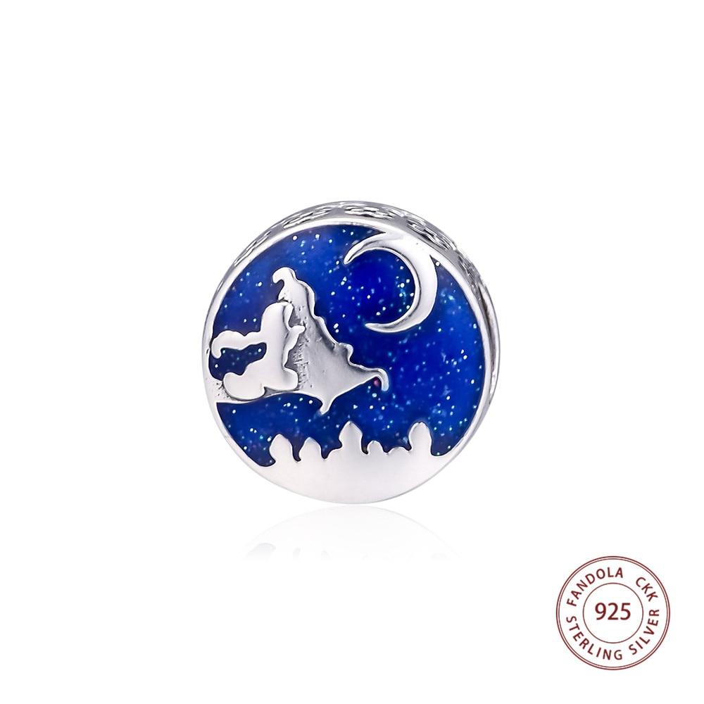 100% 925 Sterling Silver Magic Carpet Ride Charms pasuje DIY oryginalna bransoletka Argent koraliki do tworzenia biżuterii perles