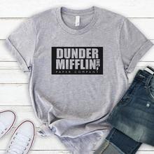 Unternehmen T Hemd Männer Kurzarm Die Büro TV Zeigen Dunder Mifflin Papier T-Shirt Crew Neck Tee Shirts für Frauen s-3XL Plus Größe