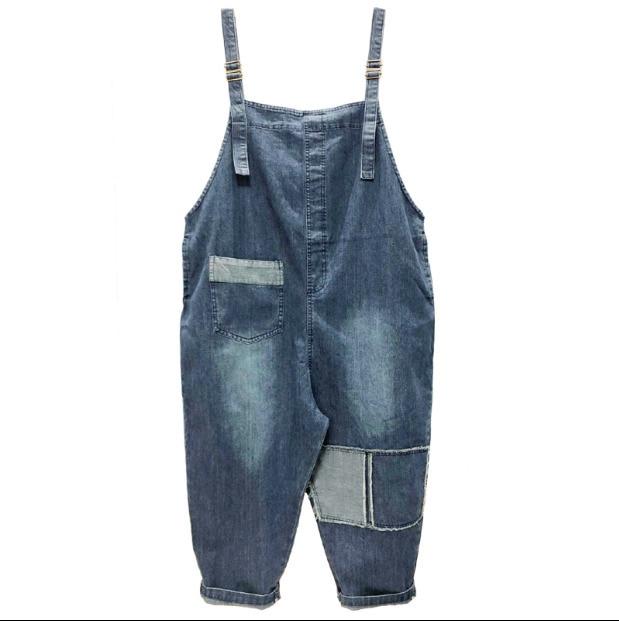 Spring Summer Women Denim Jumpsuit 2019 Ladies Loose Jeans Rompers Female Casual Pocket Sleeveless Jumpsuits Vintage Overall