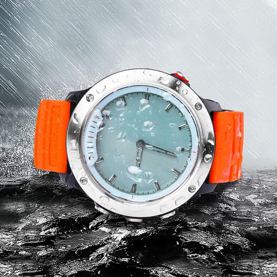 Купить с кэшбэком COXRY Smart Watch 2021 Transparent LED Quartz Dual Display Pedometer Waterproof Watch Men Sport Heart Rate Monitor Smartwatch
