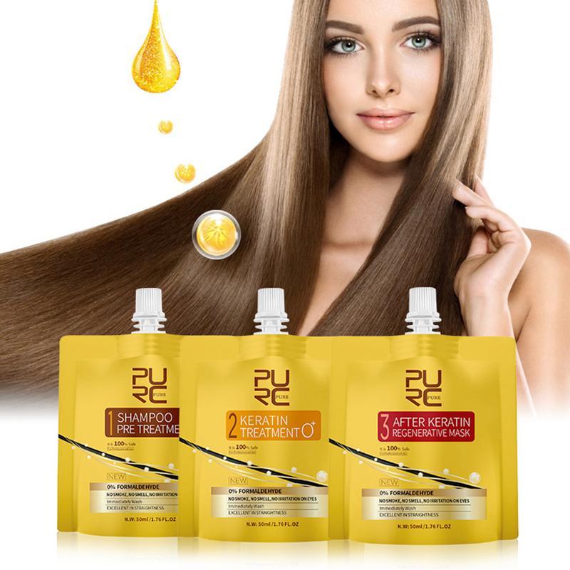 Sin Humo reparación no irritante alisado cuidado del cabello esencia tratamiento de queratina del cabello nutrición aceite del cabello Set