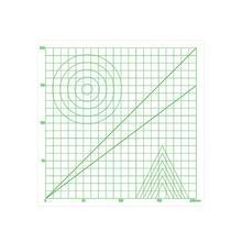 Alloyseed 220*220*0.5mm 멀티 모양의 드로잉 도구 기본 템플릿 디자인 매트 패드 3d 인쇄 펜