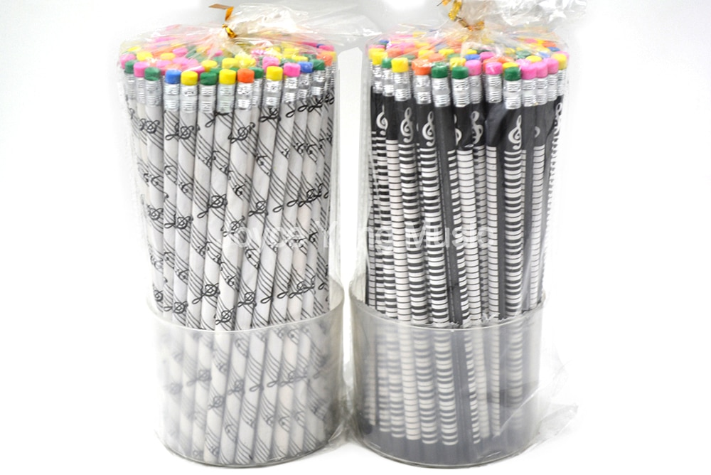 Niko 100 unids/caja libro de música nota papel lápiz final con Borrador de Color para el personal de música músico canción escritor artista