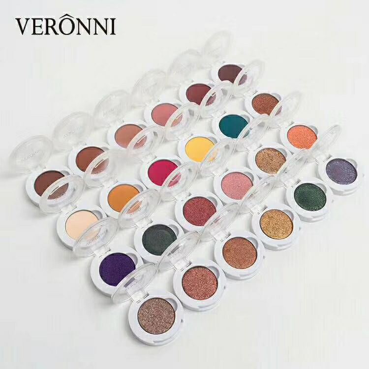 VERONNI Long-lasting eye shadow pressed powder single color palette matte shimmer glitter powder brighten cosmetics 120pcs/lot