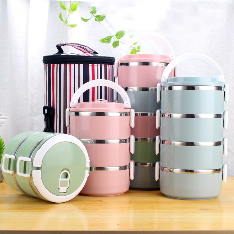 304 Stainless Steel Heat Preservation Lunch Box Adult Business Bento Box Food Container For Kids Portable Picnic School