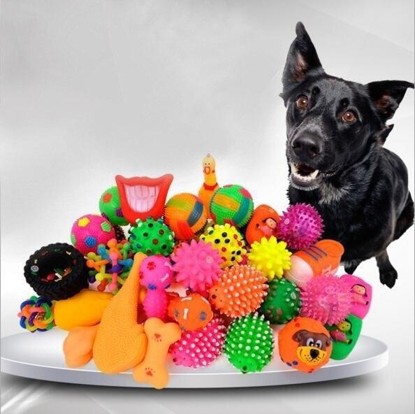 Juguetes para perros, huesos de perro chillones, juguete de Navidad, Chihuahua de juguete, mancuerna de goma de pollo, masticar, divertido cachorro, gato, bolas de vinilo para atrapar