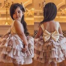 Vêtements pour bébés filles en Tulle   Vêtements Tutu de fête, col rond, sans manches, princesse, Mini, robes une pièce, pour enfants