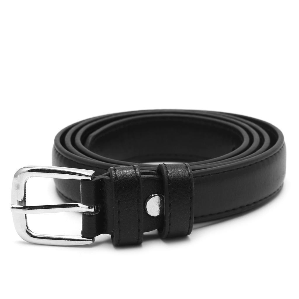 1 pc 110 cm Fashion Female Antique Black Belt Metal Buckle Jeans Woman Waist Accessories Solid Color Fux Leather Belt