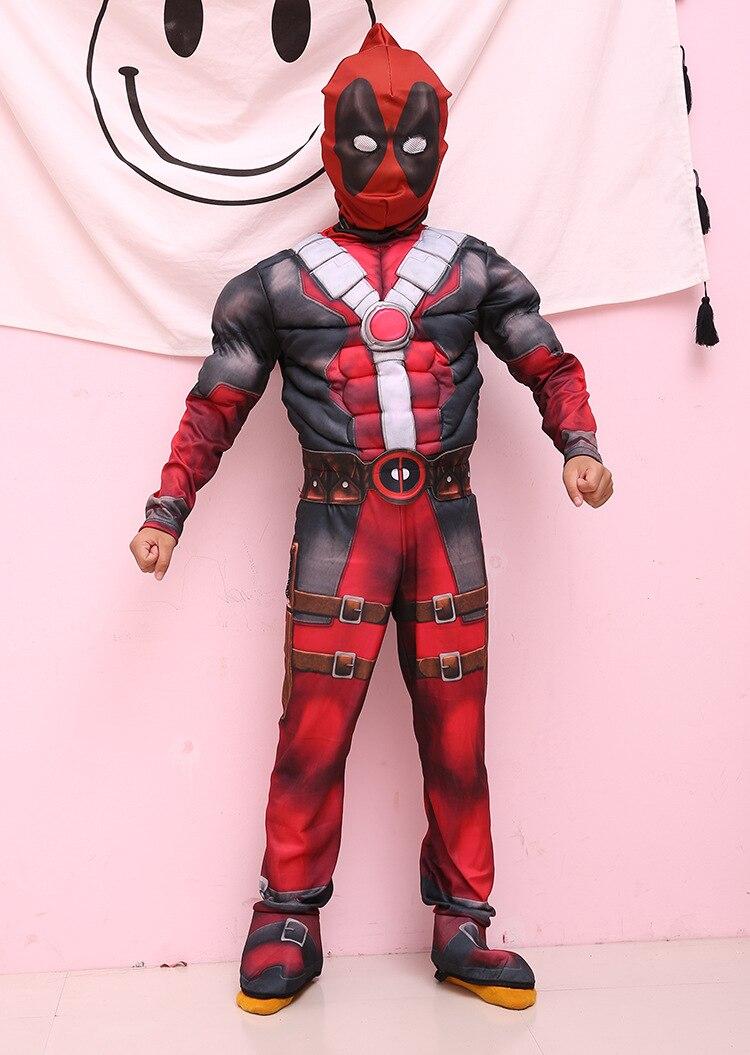 Disfraz de Halloween Deadpool para niño, vestido de fantasía de superhéroe