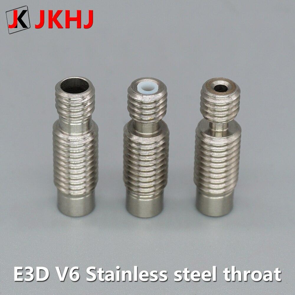 E3D V6 hot end garganta 3d piezas de impresora de acero inoxidable todo metal tubo de teflón cabeza de extrusión garganta para filamento de 1,75mm 5