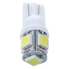 10 Pcs W5W T10 5-SMD White 5050 Chip LED Car Light Bulb Internal