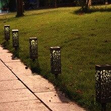 6pcs Landscape Light Waterproof Hollow-Out Outdoor Decoration Solar Energy Yard Garden