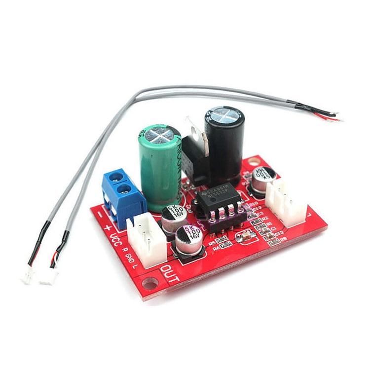 NE5532 Dynamic Microphone Stereo Preamp Amplifier Board + Signal Shielding Wire