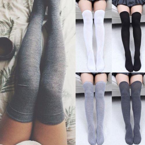 Носки женские, теплые, до колена, длинные, хлопковые, чулки