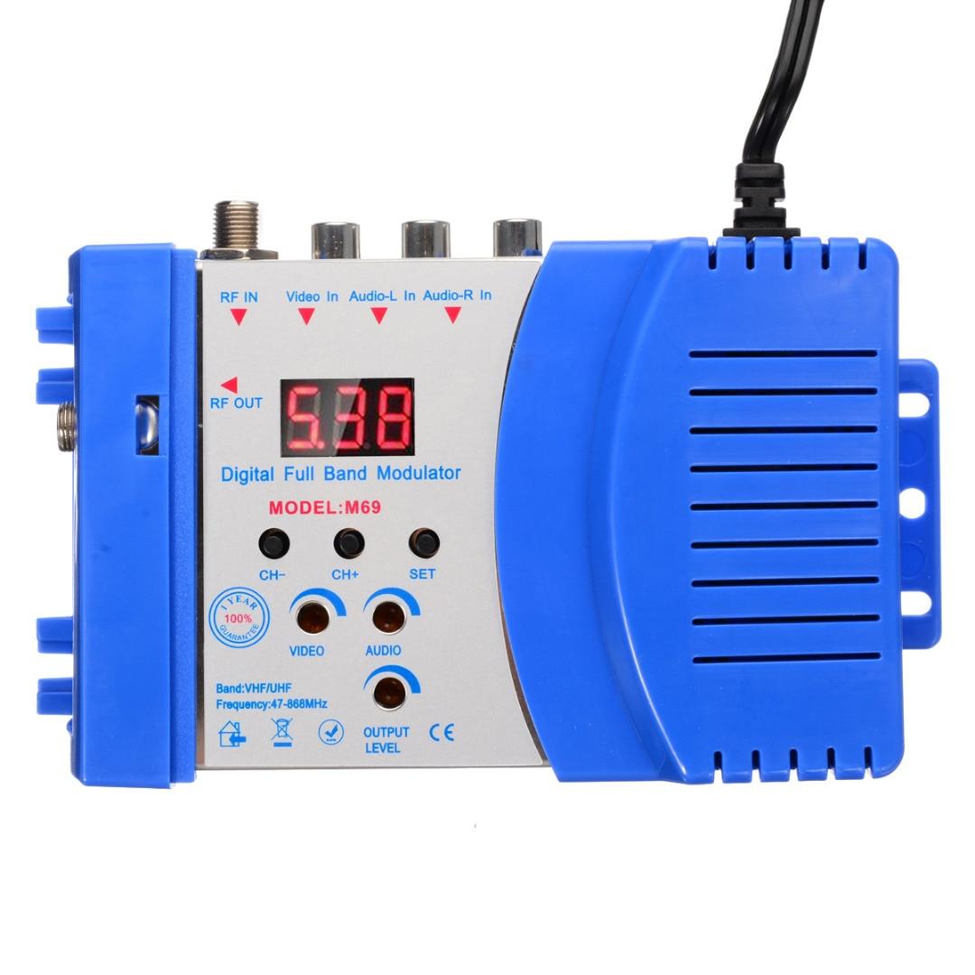 US/EU Plug Digital RF Modulator 47-868MHz Professional Home TV Digital VHF UHF RF Modulator AV To RF AV To TV Converter Adapter