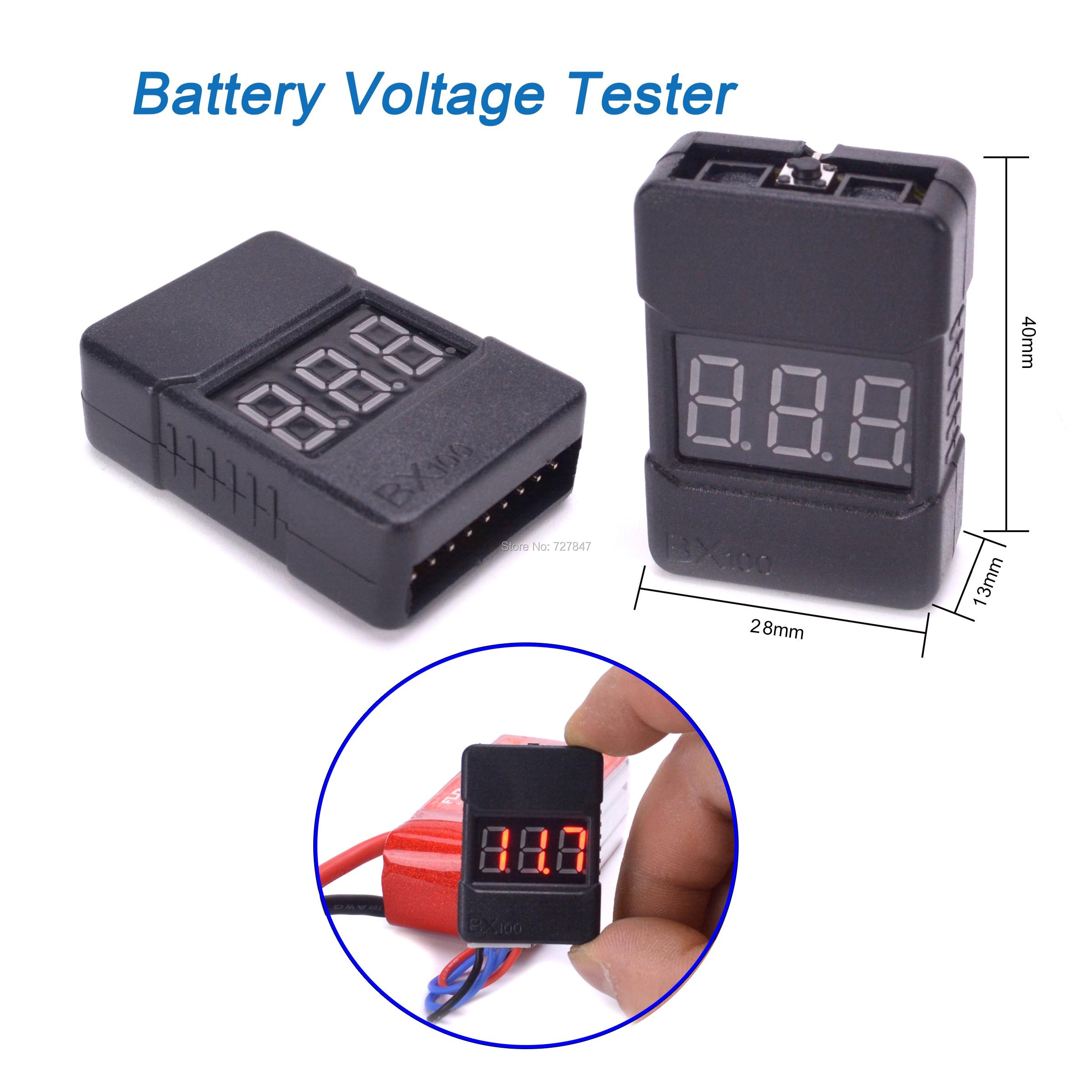 BX100 3.7-30V 1-8S LiPo Li-po/ion/Fe Battery Voltage Tester Low Voltage Buzzer Alarm