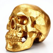 Squelette crâne tirelire or Local os résine artisanat ornements créatif Halloween cadeau