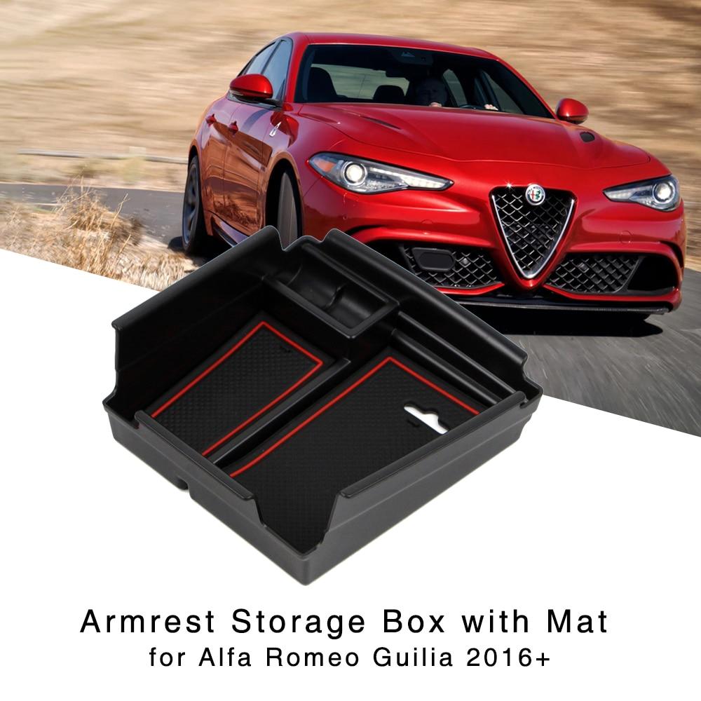 Центральная консоль подлокотник коробка для хранения для Alfa Romeo Giulia 2016 2017 2018 Автомобильный интерьер держатель лоток