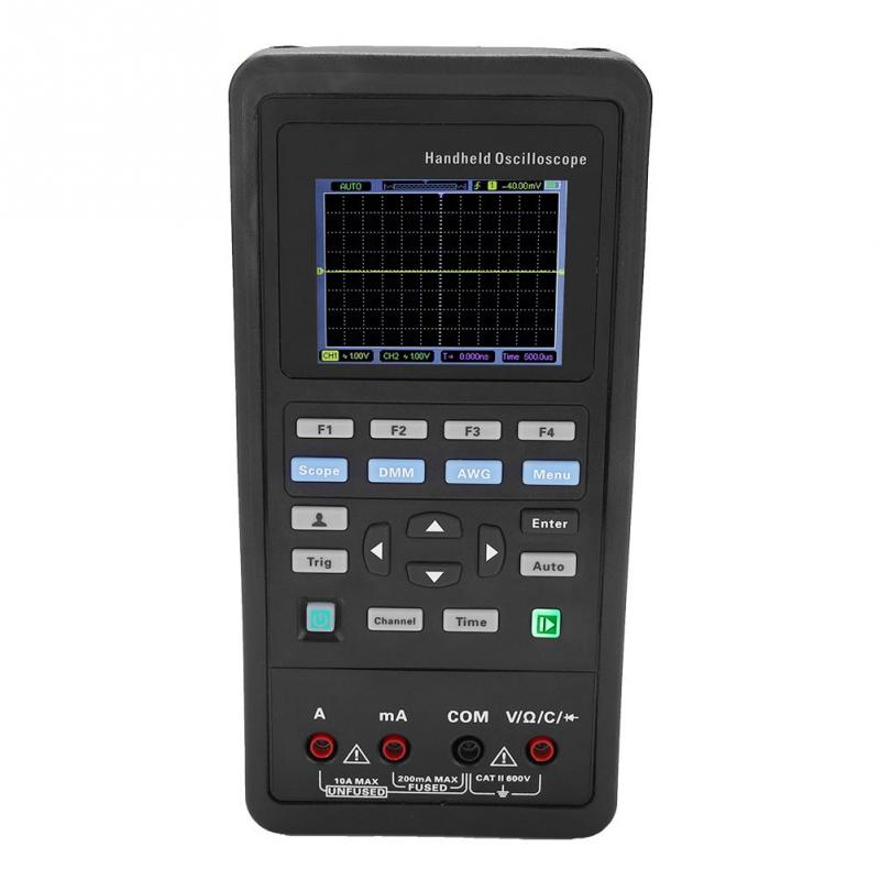 Hantek 2D72/2D42 70MHz/40MHz 2CH Oscilloscope + Multimeter + 25M Signal Generator AC 100-240V EU plug US plug Optional