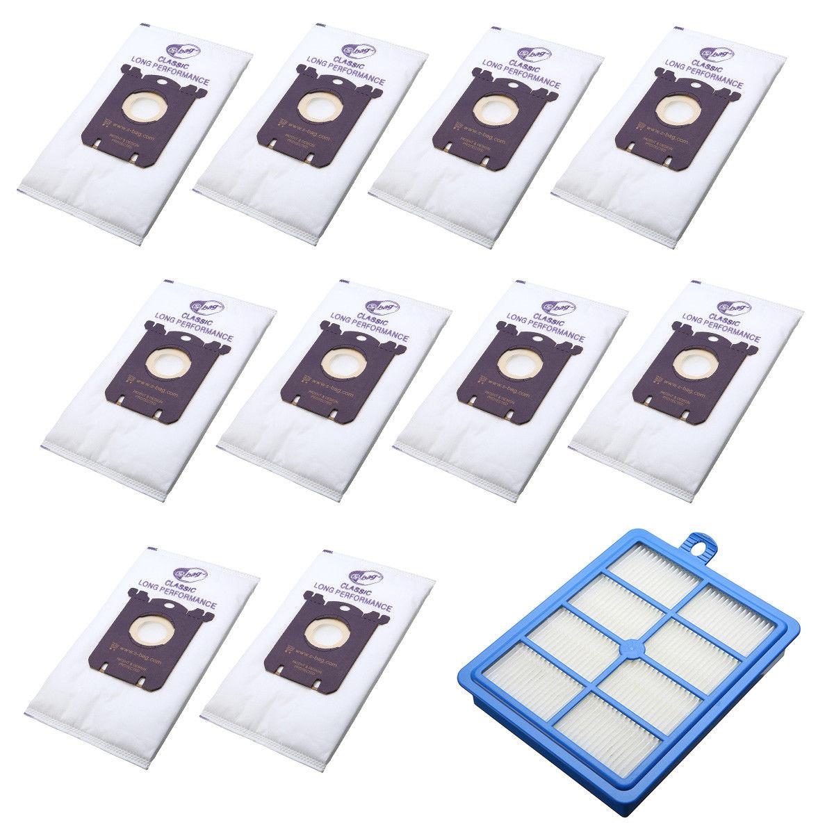 10 шт. пылесборники S-Bag + 1 шт. H12 Hepa фильтр для Philip Electrolux пылесос FC8202 FC9084 FC9087 FC9130