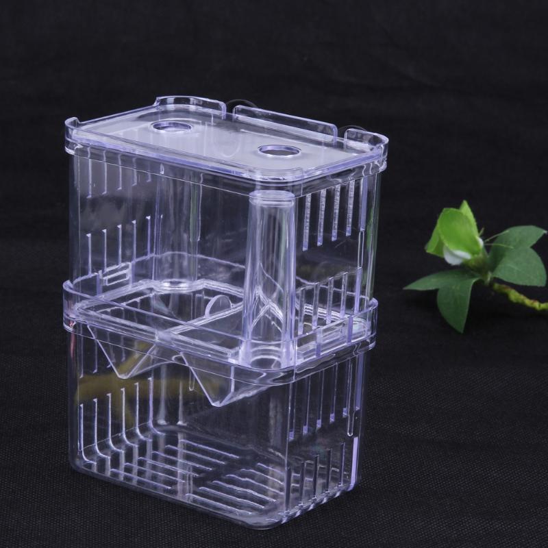 Grande acrílico caja cría peces de acuario criador de dos peces guppy para incubar aislamiento de incubadora acuario suministros para mascotas S/L