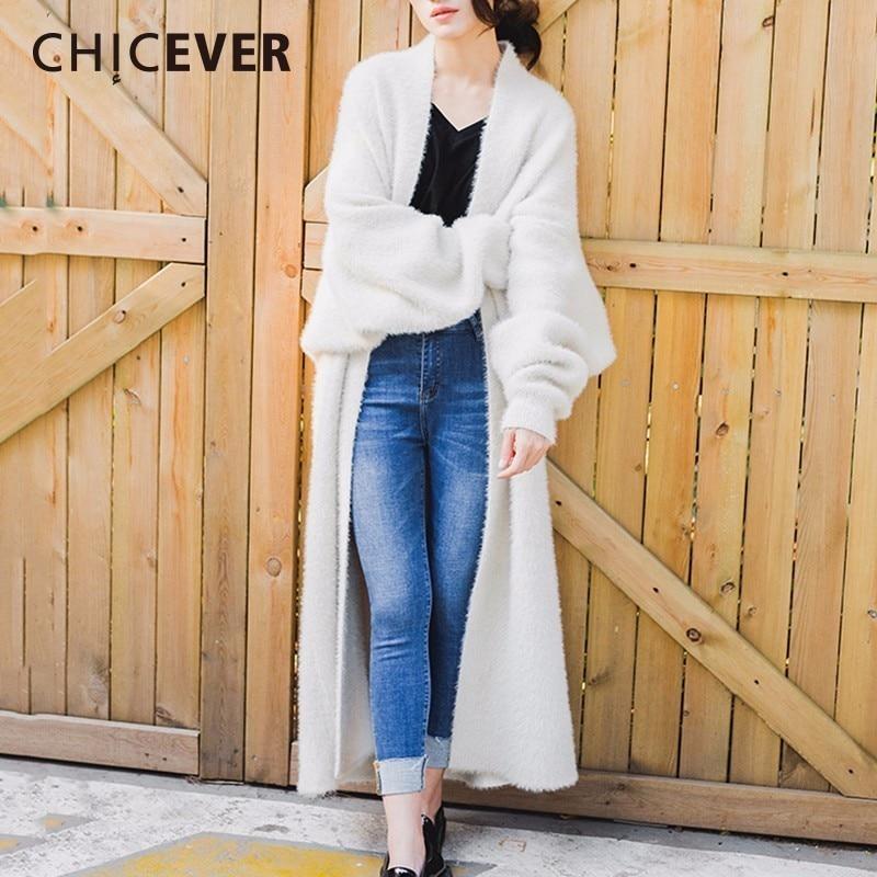 Женский свитер CHICEVER, с рукавами «летучая мышь», большого размера