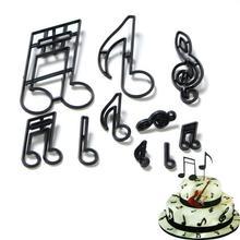 10 sztuk pieczenia tłoczenie formy muzyka Symbol motyw dla Cookie na ciasto formy do cięcia uwaga kremówka ciasto tłoczenia DIY do pieczenia narzędzie dekoracyjne