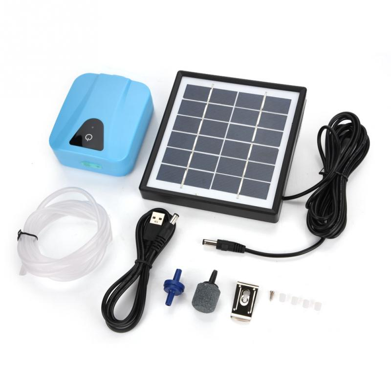 Compresor de aire electromagnético Solar Super acuario alimentado impermeable USB oxigenador aireador bomba de aire oxígeno piscina al aire libre estanque