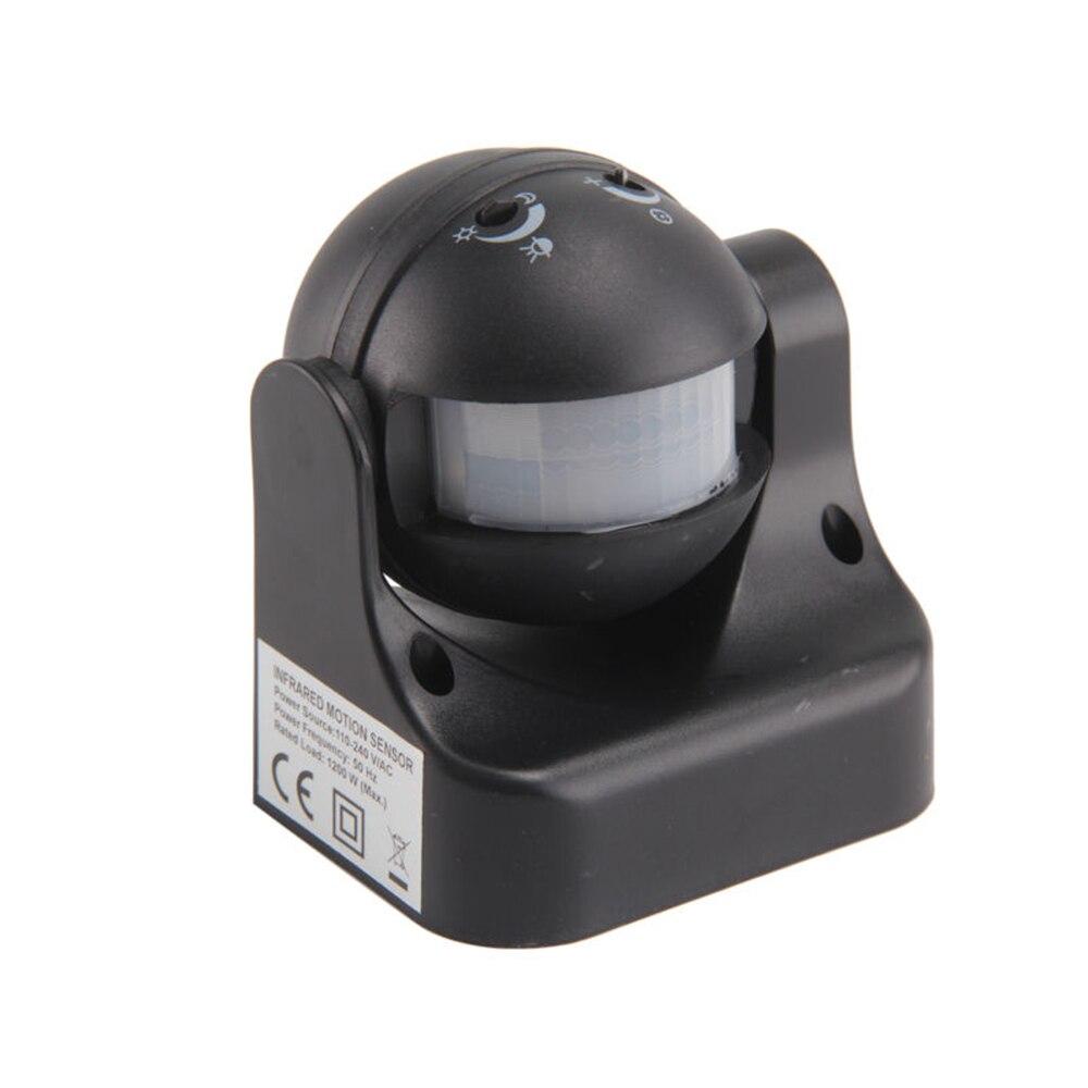 180 graus Auto PIR Detector De Sensor De Movimento Interruptor branco/preto 220 V/AC-240V/AC Lâmpada de Iluminação De Segurança interruptor para o Jardim Ao Ar Livre