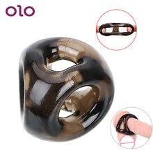 OLO anneau de pénis élastique Scrotal liaison mâle Silicone retard éjaculation anneau de coq jouets sexuels pour hommes produits pour adultes