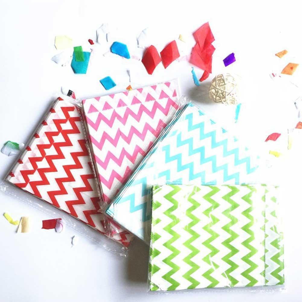Adeeing 25 uds. Bolsa de transporte de dulces para bodas, fiesta, dulces, bolsas de papel, dulce, rayas, flores, Año Nuevo