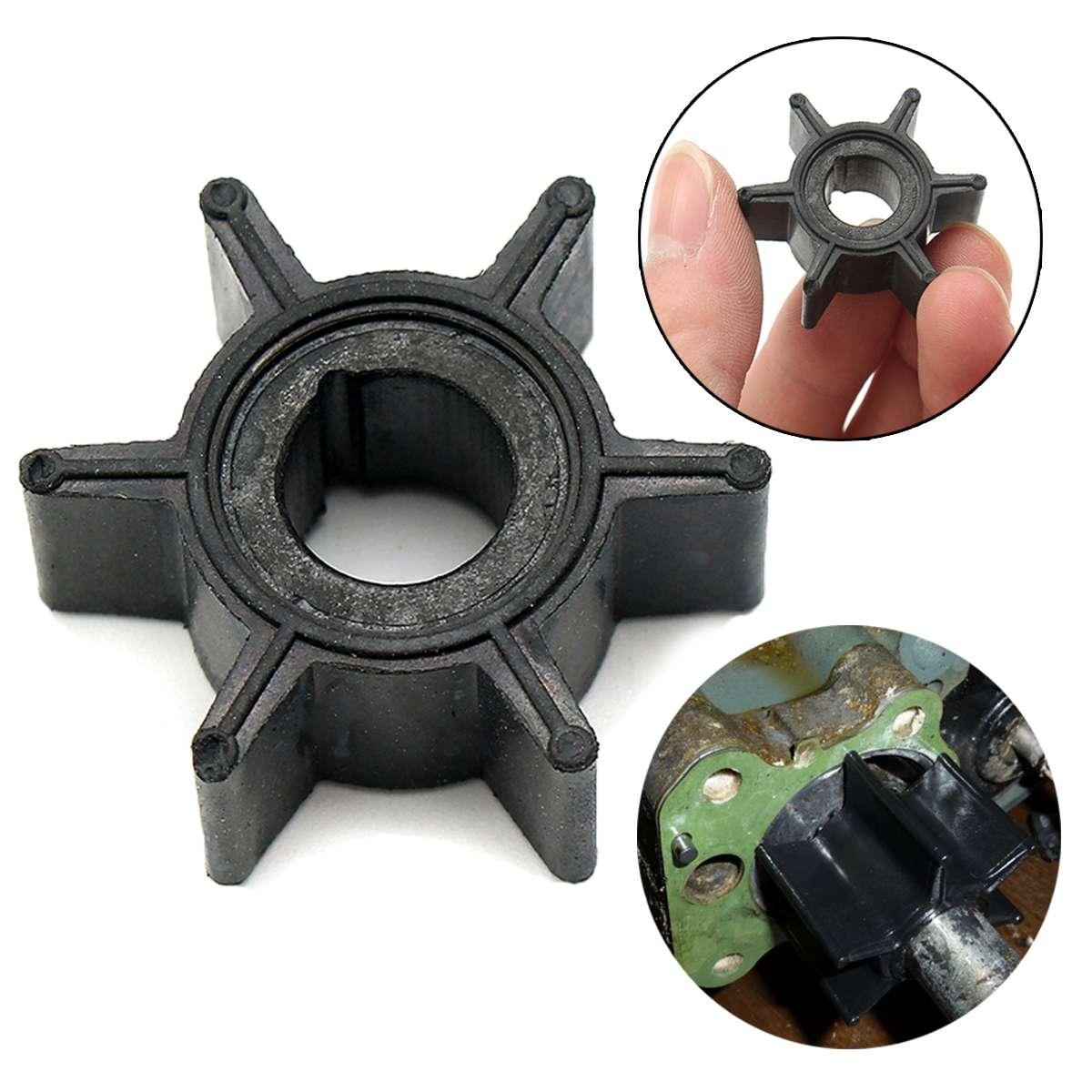 47-16154-3 impulsor de bomba de agua para Tohatsu/Mercury/Sierra 2/2. 5/3. 5/4/5/6HP Motor fuera de borda diámetro de goma 3,4 cm 6 cuchillas negro