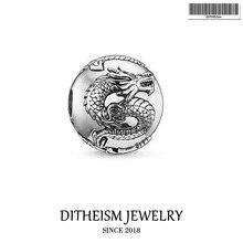 Grânulos diy dragão grânulo 5mm buraco, 2018 nova moda jóias de prata presente do punk para mulheres masculino menino menina ajuste pulseiras colar gargantilha