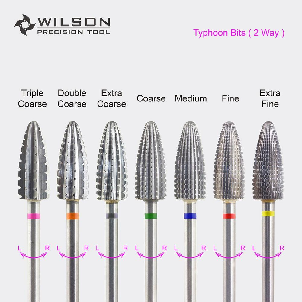 Typhoon Bit(Fastest Remove Acrylics&Gels)-Two directional(for All Hand use)-WILSON Carbide Nail Drill Bit
