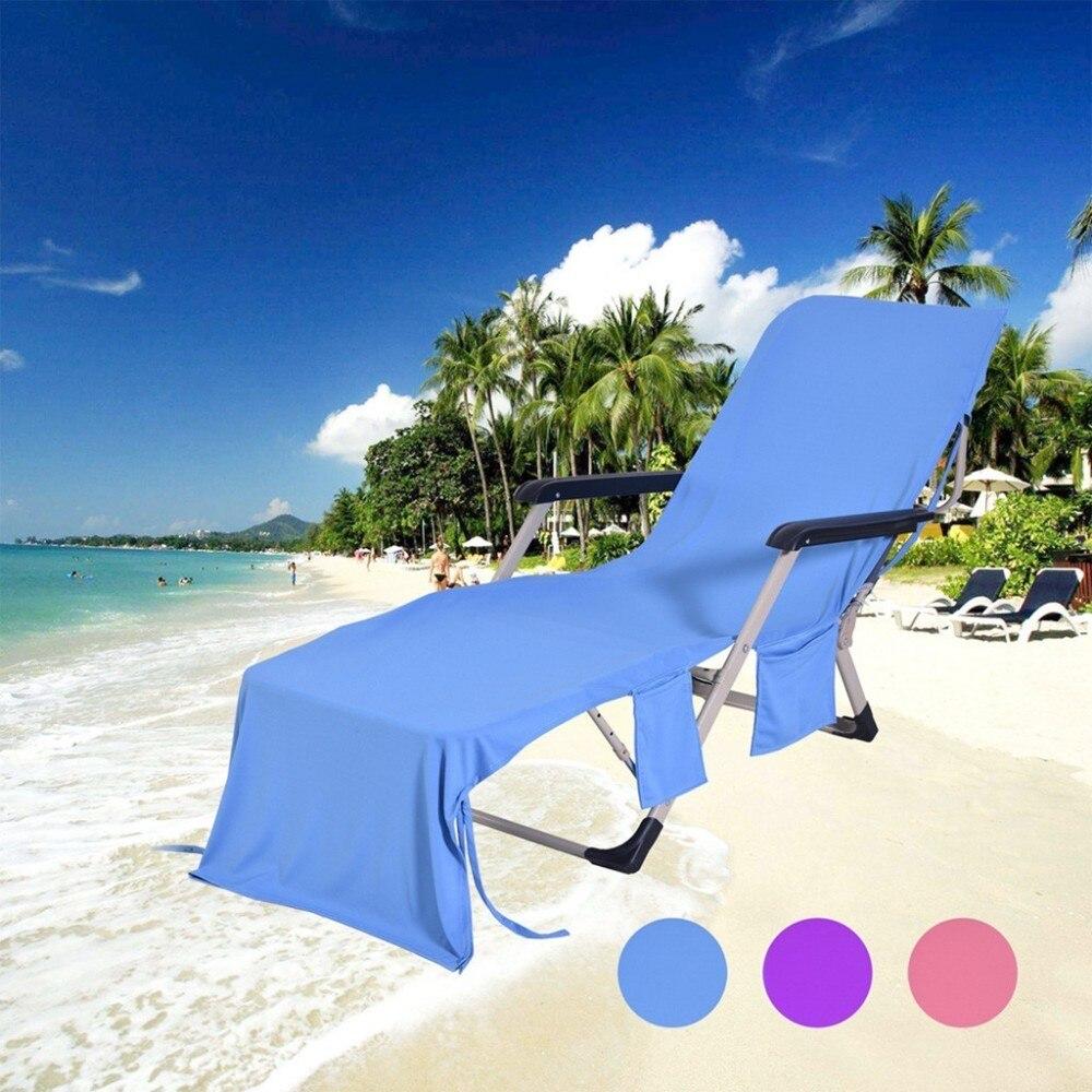 Silla para adultos, toalla de playa, toallas de baño para silla de playa, cubierta sólida para tumbona de piscina, toallas para natación de 8 2x28 pulgadas, Toalla de baño