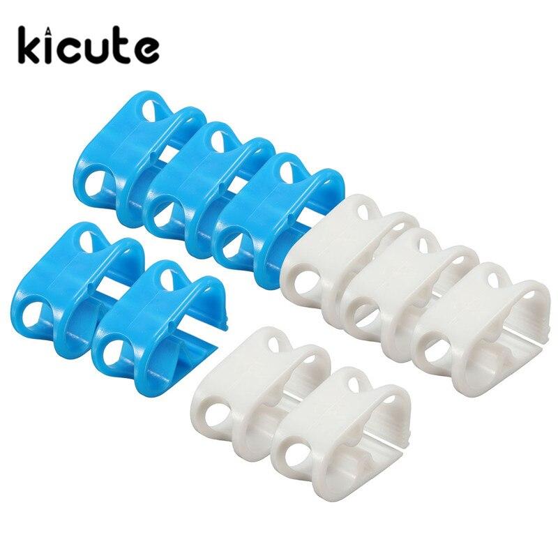 Kicute офисные лабораторные принадлежности 5 штук пакет пластиковый лабораторный зажимной зажим химический клапан управления потоком для пробирки/держателя трубы