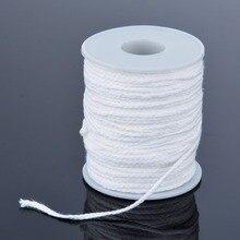 61m * 2.5mm coton mèche carré tresse bougie mèches noyau bougie faisant des fournitures pratiques bricolage artisanat accessoires