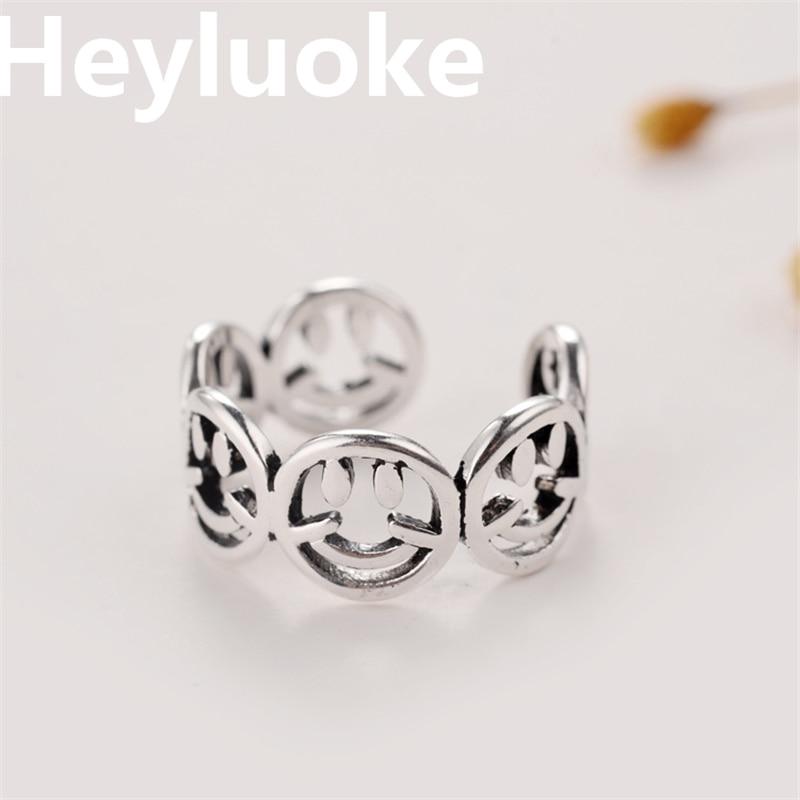 2019 anillos de promoción anillos Anel 100% para joyería tailandesa de Diseño de Sonrisa anillo para amante abierto mejor regalo